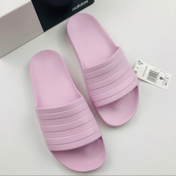 latest fashion running shoes online store ADIDAS Adilette Aqua Pink Slide Sandals NWT